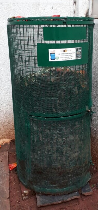 Home Garden Leaf Composter Without Door